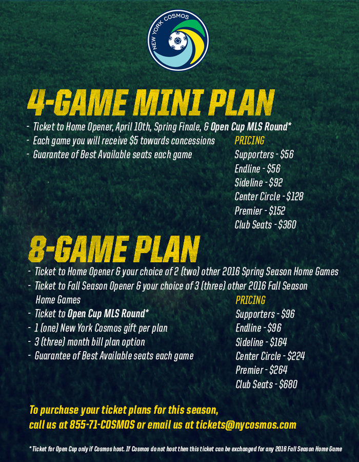 Build Your Own 2016 Home Schedule   New York Cosmos